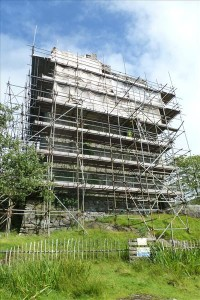 Nancy Franklin's photo of Moy in scaffolding. Summer 2012