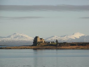 Duart Castle in Winter. Courtesy Dr Sue Reed