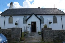 Bunessan Parish Church showing porch and buttresses Courtesy of Dr Sue Reed