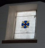 Window in west gable wall