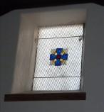 Window in west gable wall