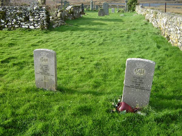 Gravestones of unknown sailors
