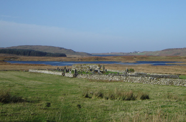 Kilvickeon Church and graveyard from the south