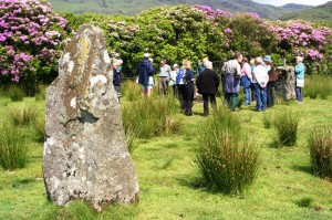 MH&AS and Morvern Heritage Society members join for a visit to the standing stones at Lochbuie.