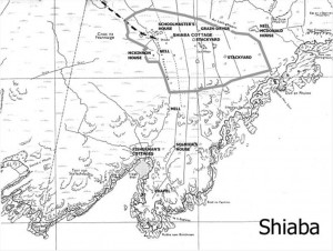 Shiaba site map Courtesy of John Clare